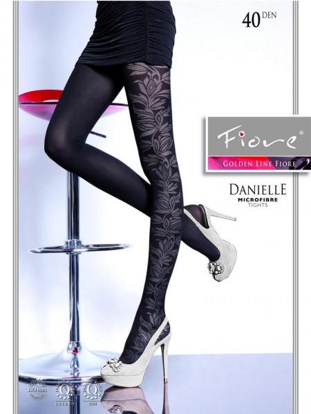 Fiore Strumpfhose mit blumigem Muster Danielle 40 DEN