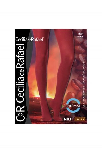 Cecilia de Rafael - Blickdichte wärmende Thermostrumpfhose Heat, 150 denier