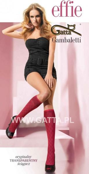 Gatta Kniestruempfe mit durchgehendem Muster Effie 01 in ribesviola