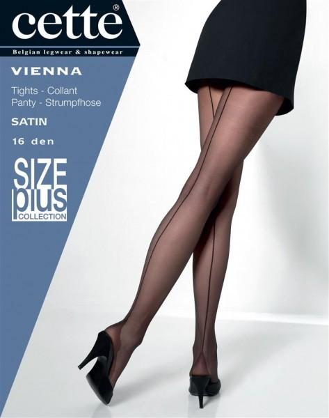 Feinstrumpfhose mit rückseitiger Naht und Hochferse Vienna Size Plus von Cette