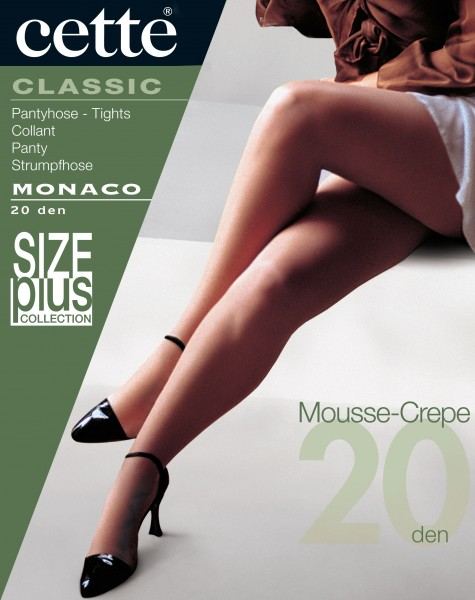 Klassische Feinstrumpfhose ohne Elastan in Übergrößen Monaco von Cette
