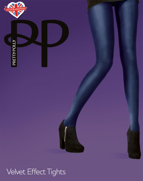 Blickdichte Strumpfhose mit Samt-Optik Velvet Effect Tights von Pretty Polly