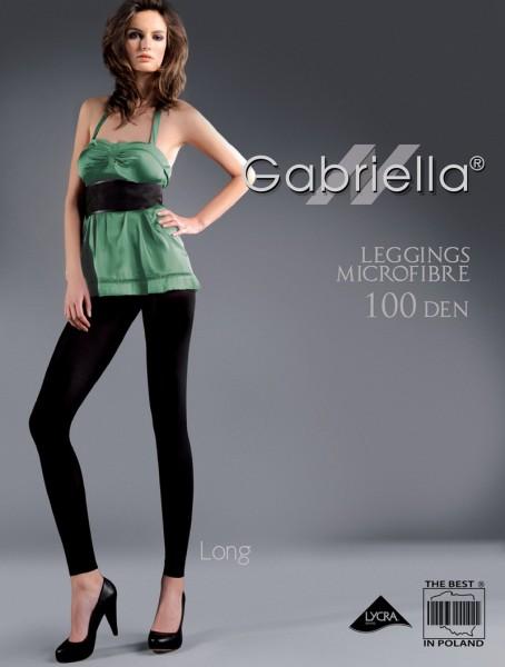 Gabriella Blickdichte lange Leggins aus Microfaser ohne Muster 100 DEN