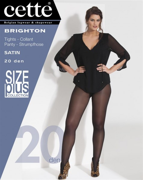Glatte Plus Size Strumpfhose mit Seidenglanz Brighton von Cette
