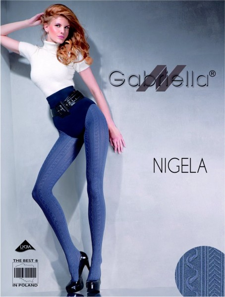 Gabriella Gemusterte Microfaser-Strumpfhose Nigela, 60 DEN