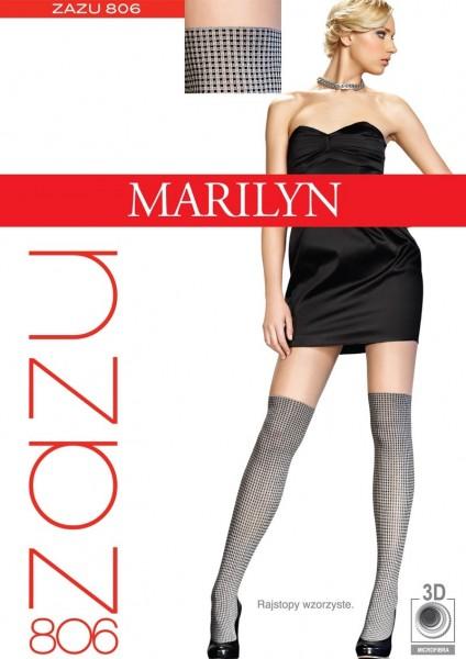Marilyn Feinstrumpfhose im Overknee-Look mit Karomuster Zazu 40 DEN
