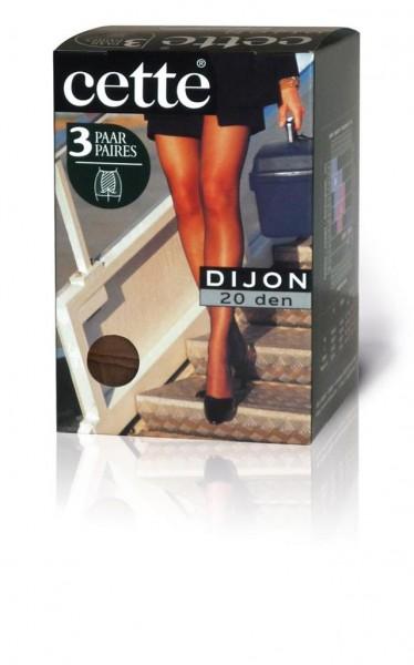 3 Paar klassische Feinstrumpfhosen ohne Elastan Dijon von Cette