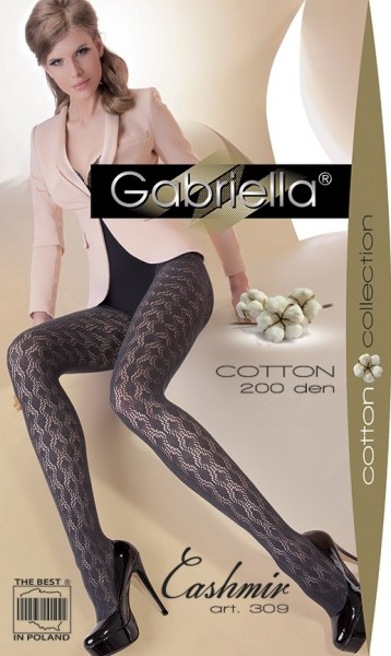 Gabriella Gemusterte Netzstrumpfhose mit Baumwolle Cashmir 309