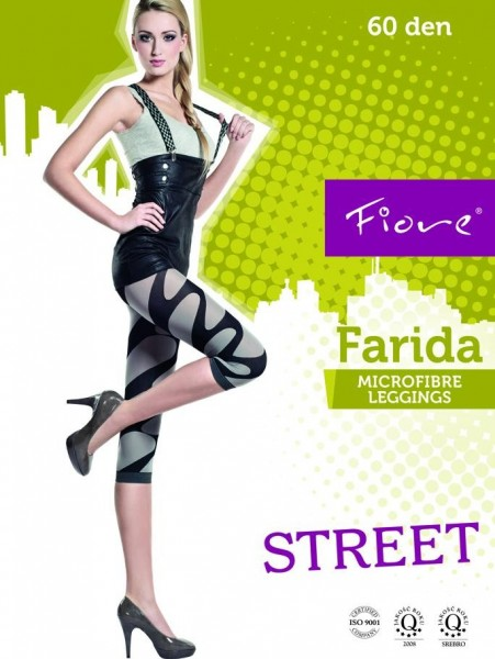 Fiore 3/4-Leggings mit trendigem Muster Farida 60 DEN