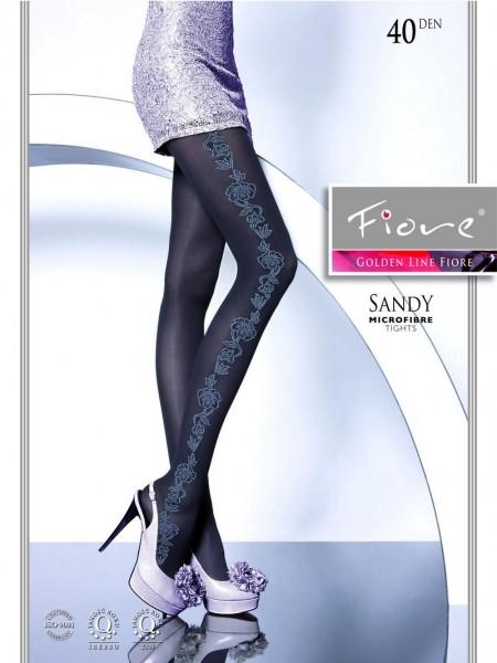Fiore Elegante Strumpfhose mit blumigem Muster Sandy 40 DEN