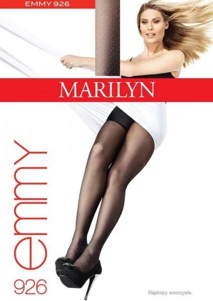 Marilyn Elegante Feinstrumpfhosen mit verspieltem Tupfenmuster Emmy, 20 DEN
