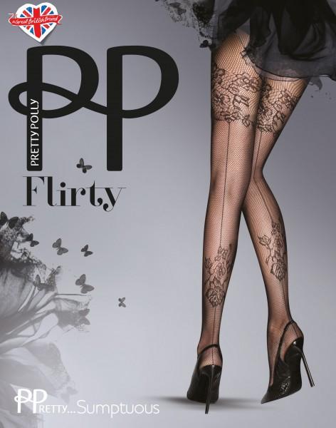 Pretty Polly PPretty?Sumptuous - Raffiniert gemusterte Netzstrumpfhose mit rückseitiger Naht