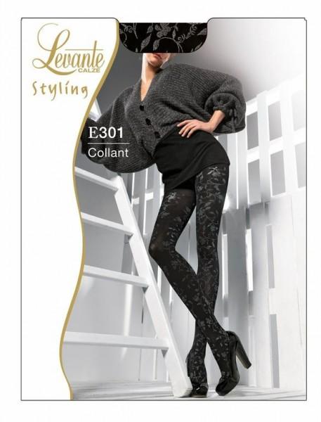 Levante Elegante Strumpfhose mit floralem Muster 50 DEN