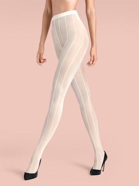 KUNERT de Luxe Claudia Schiffer Legs No. 2 - Strumpfhose mit raffiniertem Streifen-Design