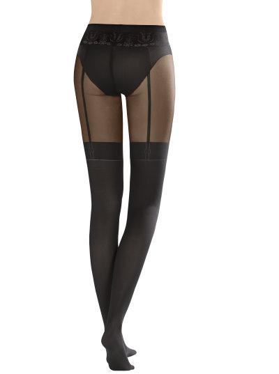 f0a31772dbf59 KUNERT Feminine Seduction - Strumpfhose mit verführerischer Straps-Optik