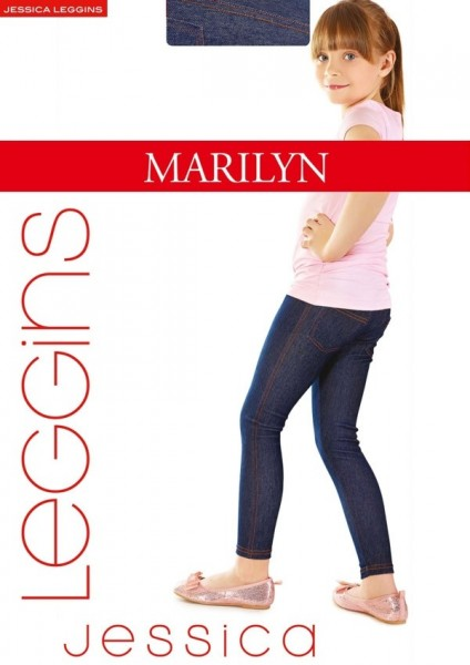 Marilyn Lange Kinderleggings in Jeansoptik Jessica