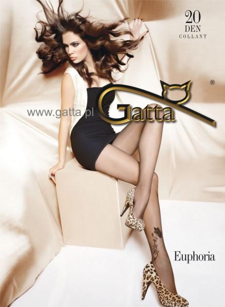 Gatta Feinstrumpfhose mit einem Blumenmuster Euphoria 08