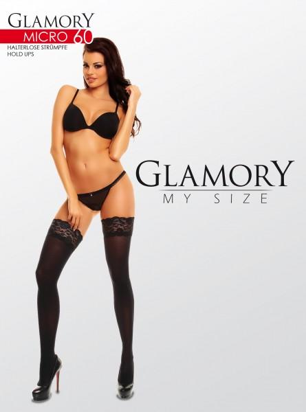Glamory Blickdichte halterlose Strümpfe in Übergrößen Micro 60 DEN