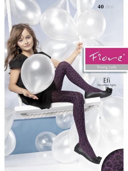 Fiore KinderStrumpfhose mit blumigem 3D-Muster Efi 40 DEN