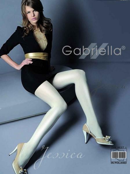 Gabriella Elegante Strumpfhose Jessica mit Muster in Streifen-Optik